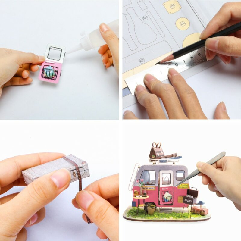 happy camper robotime diy miniature dollhouse kit 9