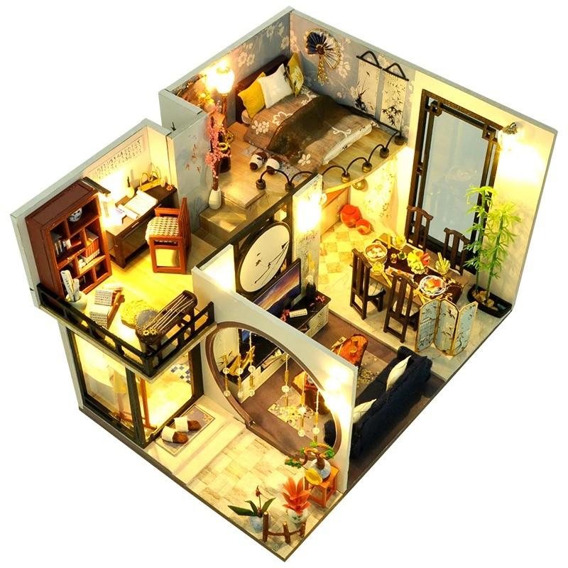 ids toys diy dollhouse assemble wooden main 1 1