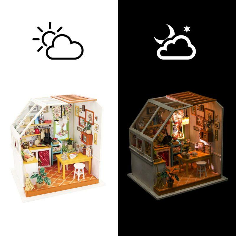 jason s kitchen robotime diy miniature dollhouse kit 10