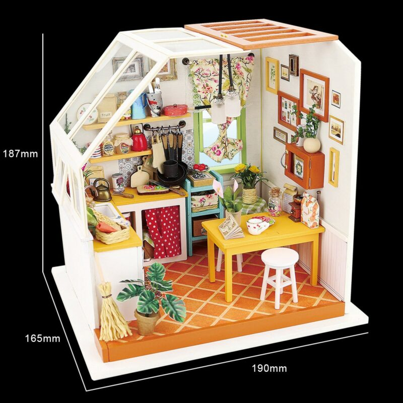 jason s kitchen robotime diy miniature dollhouse kit 11