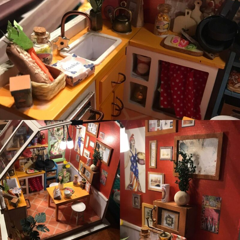 jason s kitchen robotime diy miniature dollhouse kit 2