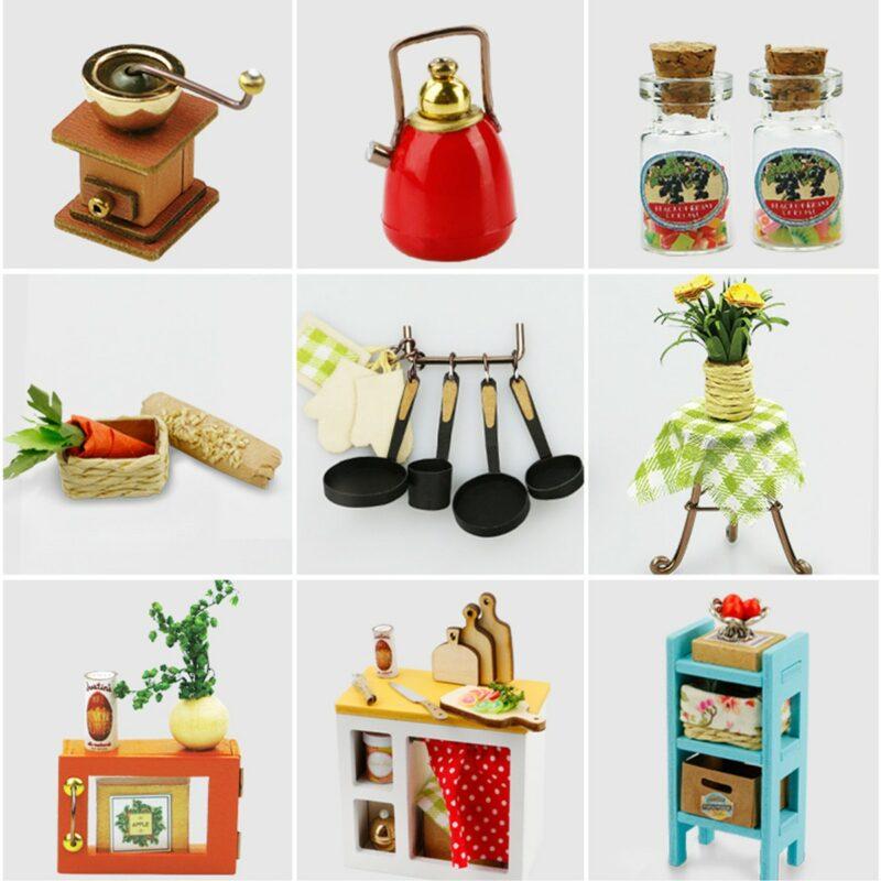 jason s kitchen robotime diy miniature dollhouse kit 7