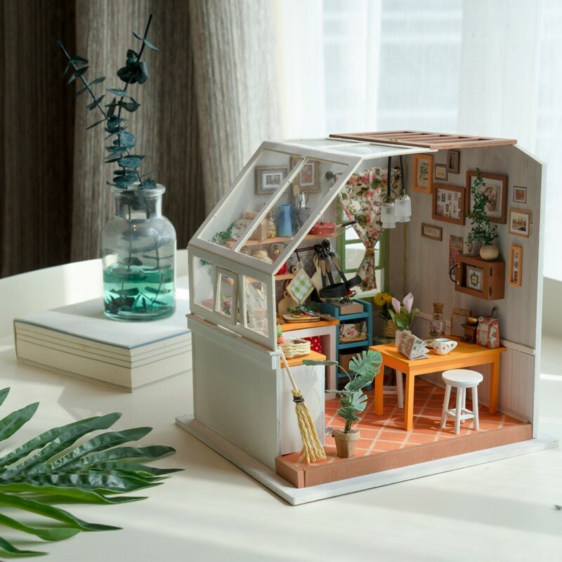 jason s kitchen robotime diy miniature dollhouse kit 8