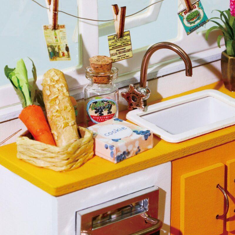 jason s kitchen robotime diy miniature dollhouse kit
