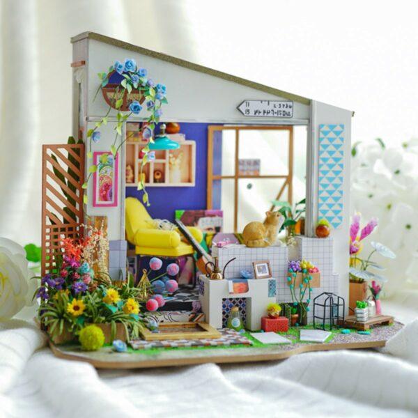 lily s porch robotime diy miniature dollhouse kit 13