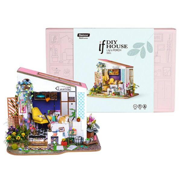 lily s porch robotime diy miniature dollhouse kit 14