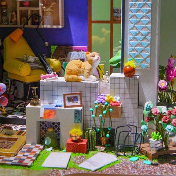 lily s porch robotime diy miniature dollhouse kit 2