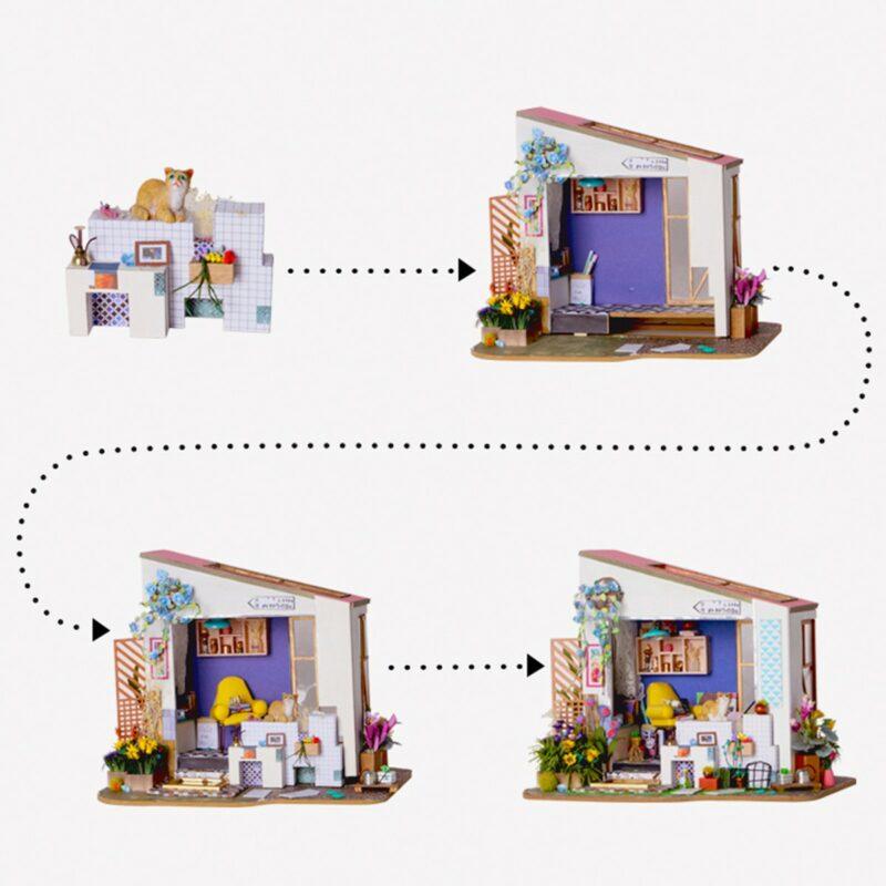 lily s porch robotime diy miniature dollhouse kit 7