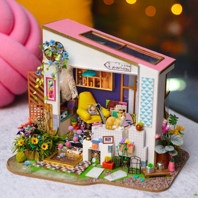 lily s porch robotime diy miniature dollhouse kit 8