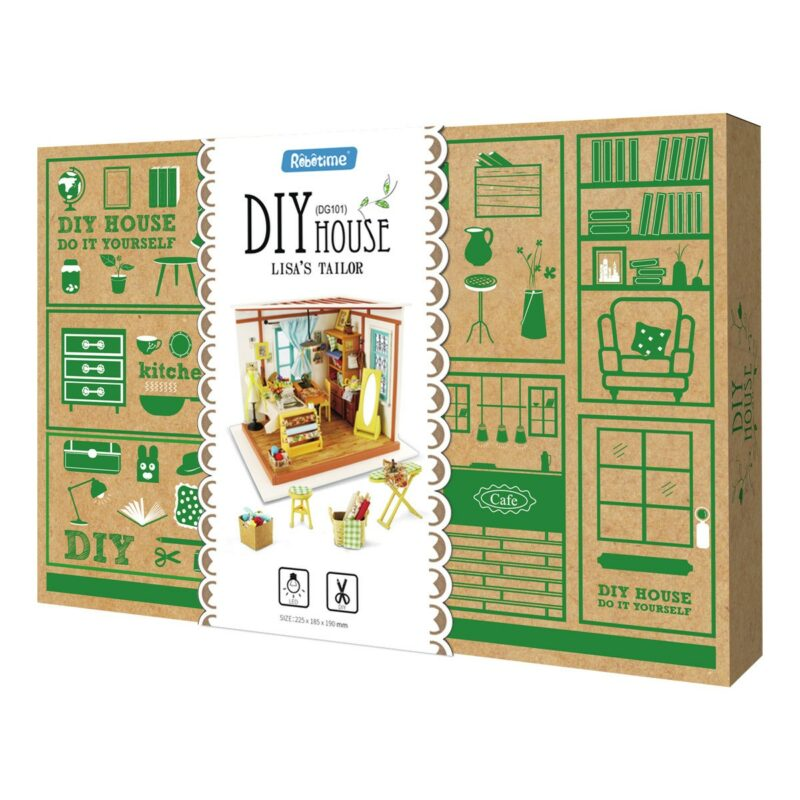 lisa s tailor robotime diy miniature dollhouse kit 11