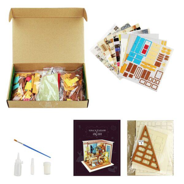 lisa s tailor robotime diy miniature dollhouse kit 7