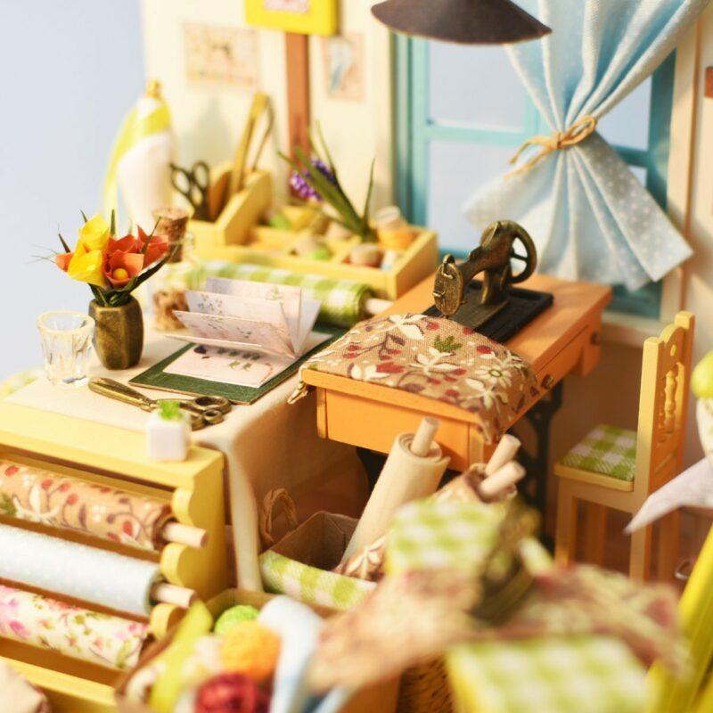 lisa s tailor robotime diy miniature dollhouse kit 8