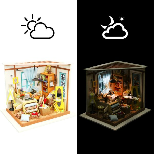 lisa s tailor robotime diy miniature dollhouse kit 9