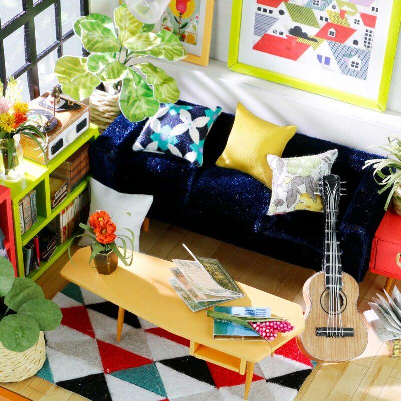 locus s sitting room robotime diy miniature dollhouse kit 3