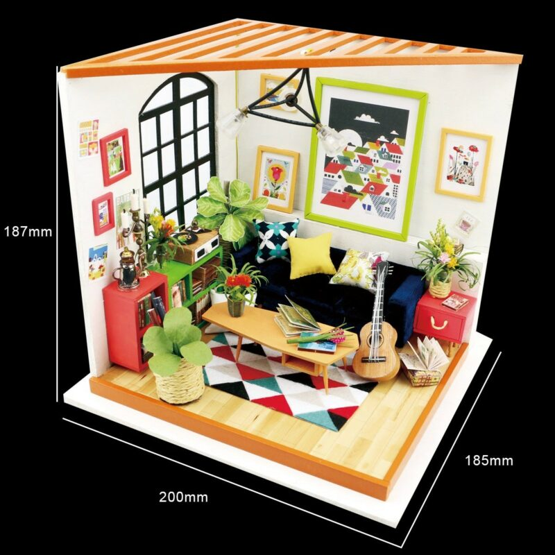 locus s sitting room robotime diy miniature dollhouse kit 5