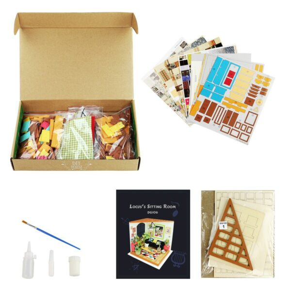 locus s sitting room robotime diy miniature dollhouse kit 6
