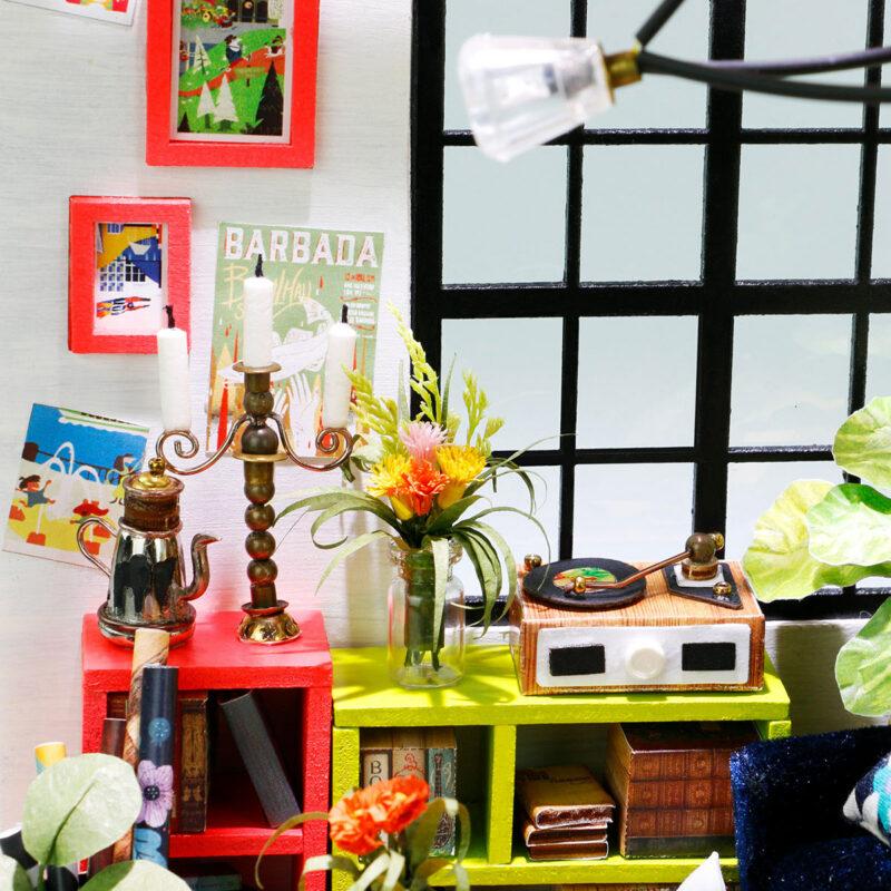 locus s sitting room robotime diy miniature dollhouse kit 7