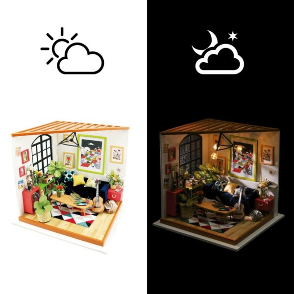 locus s sitting room robotime diy miniature dollhouse kit 9