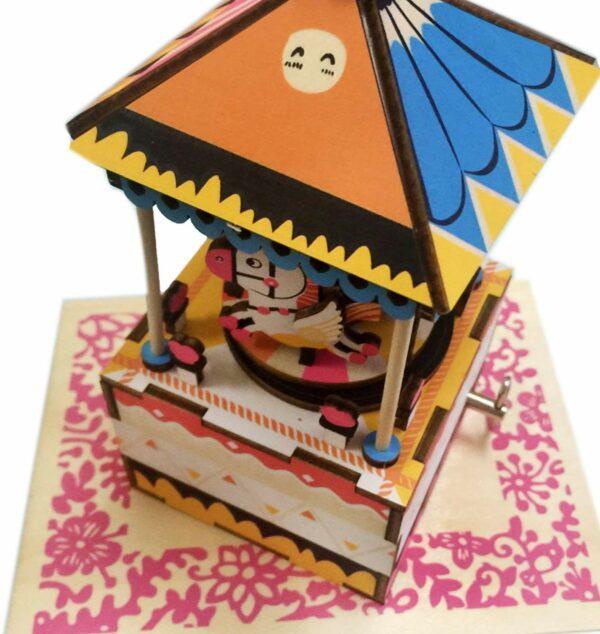 merry go round diy music box 3