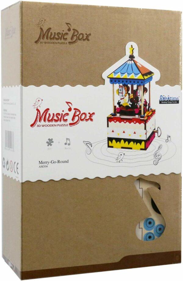 merry go round diy music box 5