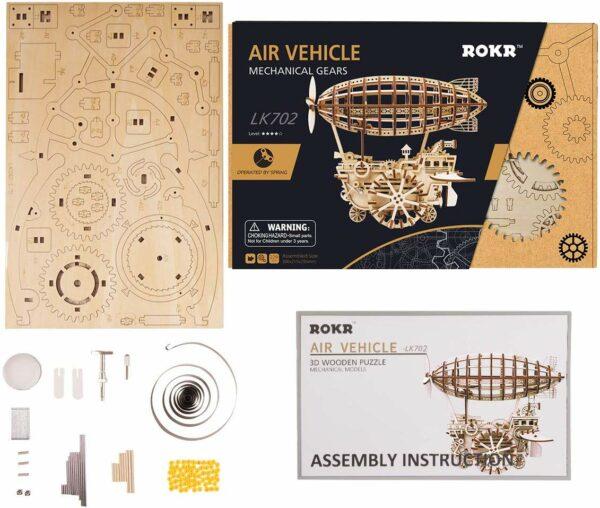 robotime air vehicle movement assembled mechanical model