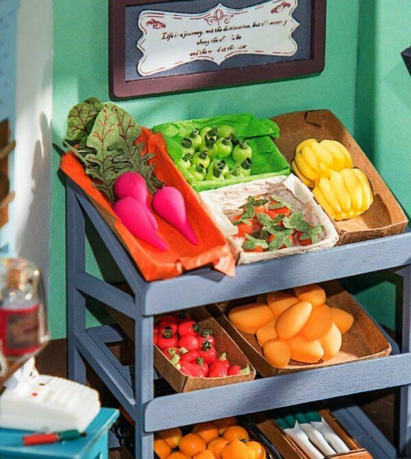 robotime dg142 carl s fruit shop happy corner diy dollhouse copy