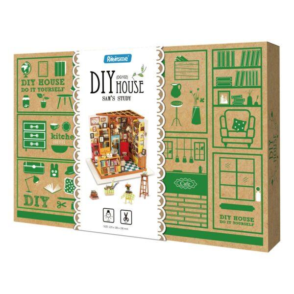 sam s study robotime diy miniature dollhouse kit 13