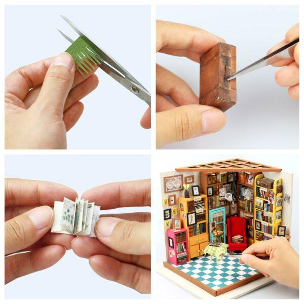 sam s study robotime diy miniature dollhouse kit 14