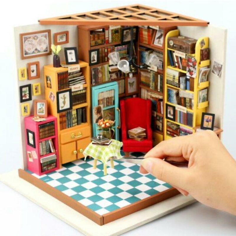 sam s study robotime diy miniature dollhouse kit