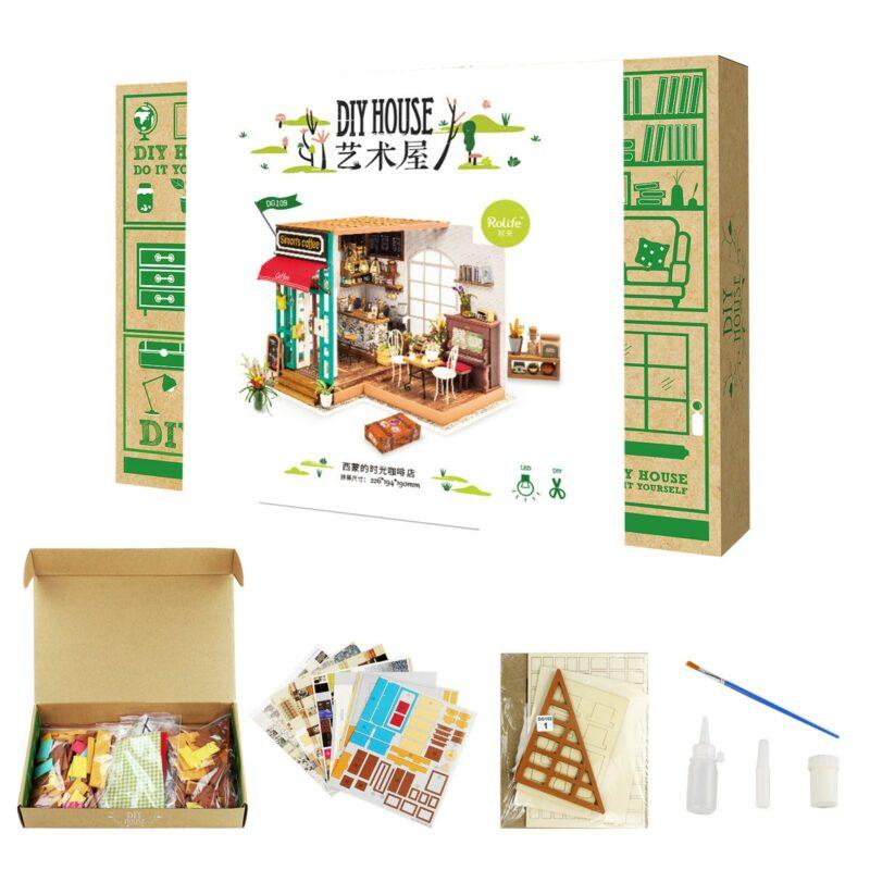 simon s coffee robotime diy miniature dollhouse kit 11