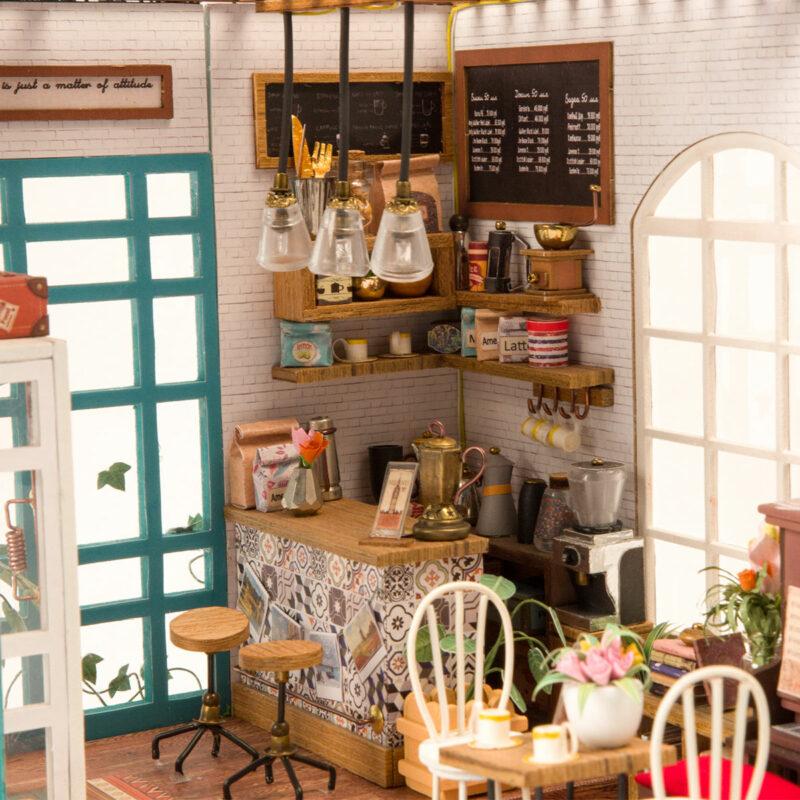 simon s coffee robotime diy miniature dollhouse kit 3