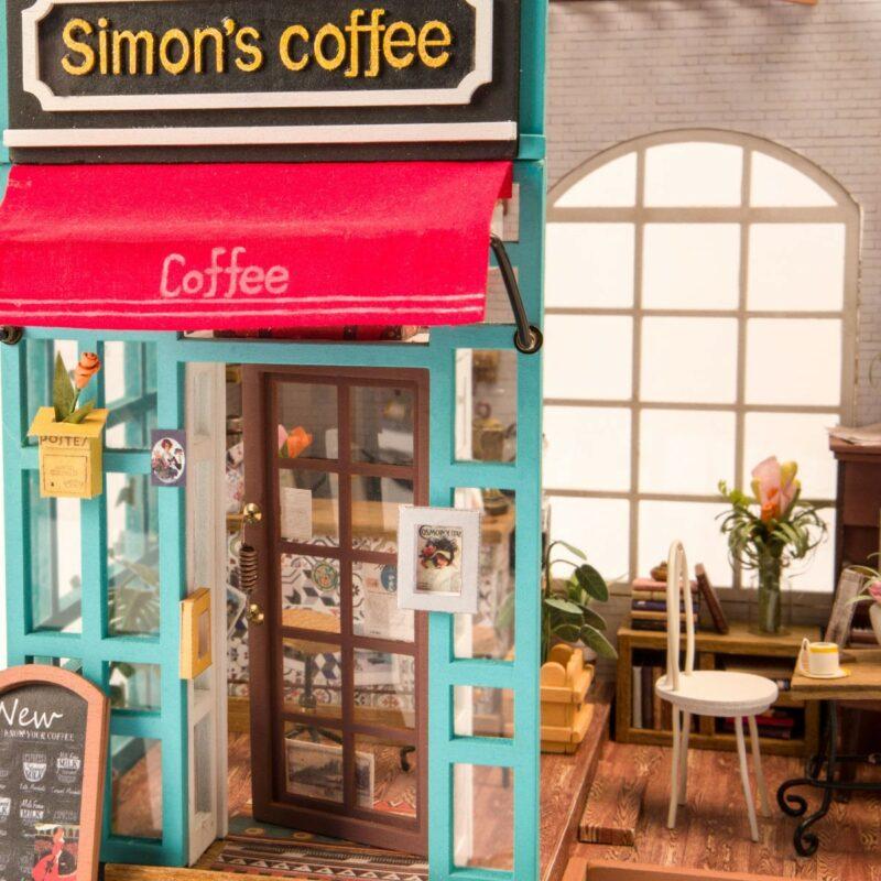 simon s coffee robotime diy miniature dollhouse kit 7