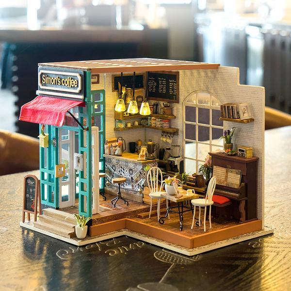 simon s coffee robotime diy miniature dollhouse kit