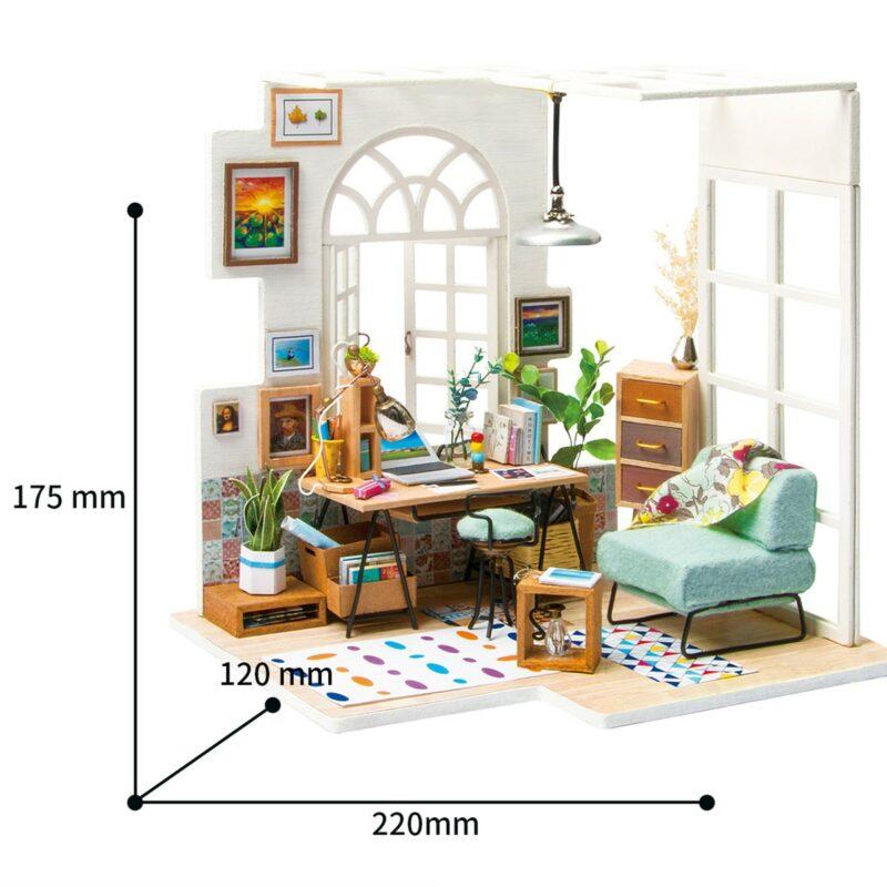 soho time diy miniature house kit robotime 4