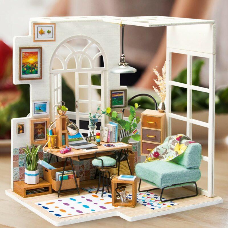 soho time diy miniature house kit robotime 9