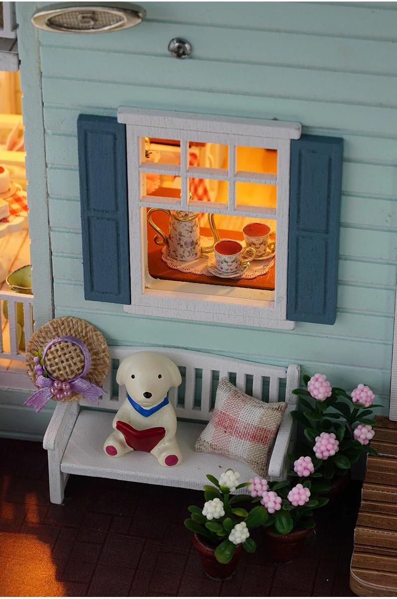 ssemble diy doll house toy wooden minia description 30