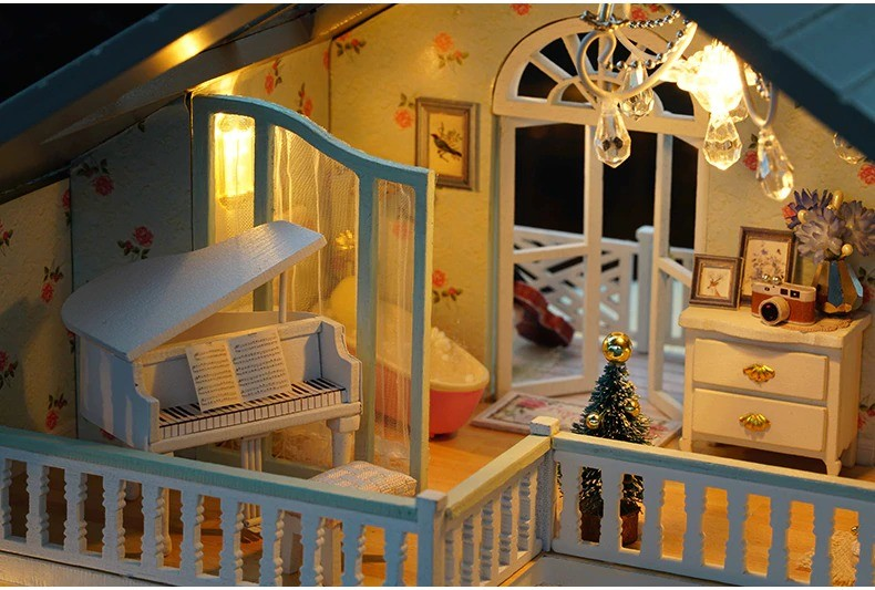 ssemble diy doll house toy wooden minia description 38