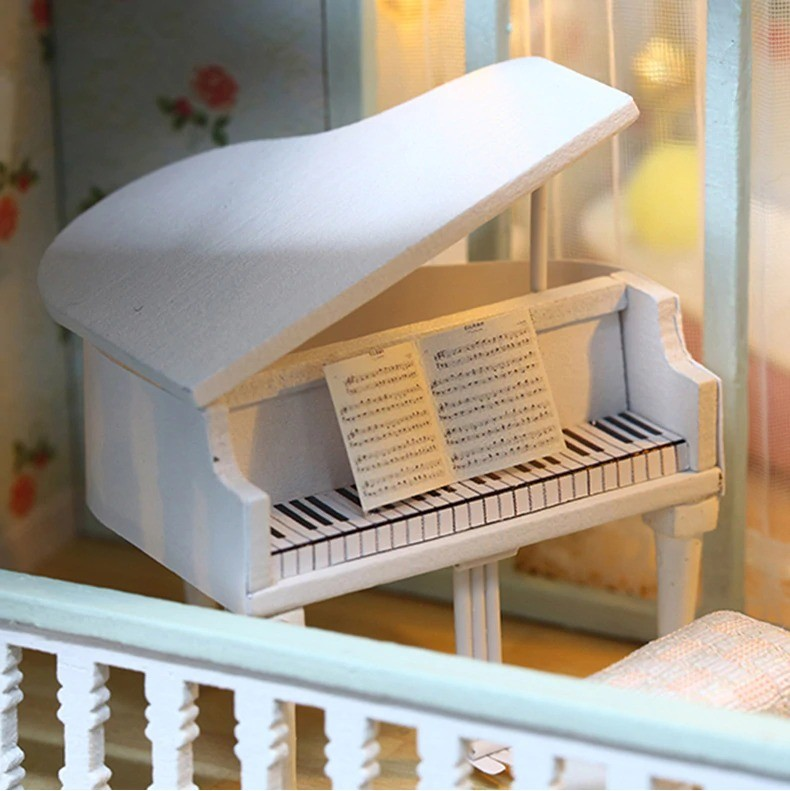 ssemble diy doll house toy wooden minia description 40