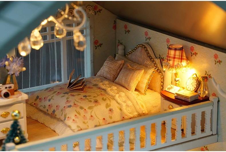 ssemble diy doll house toy wooden minia description 41