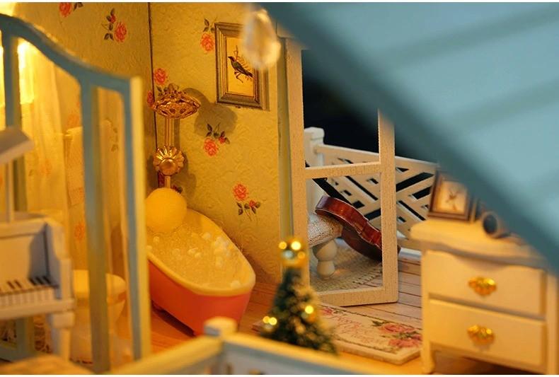 ssemble diy doll house toy wooden minia description 43