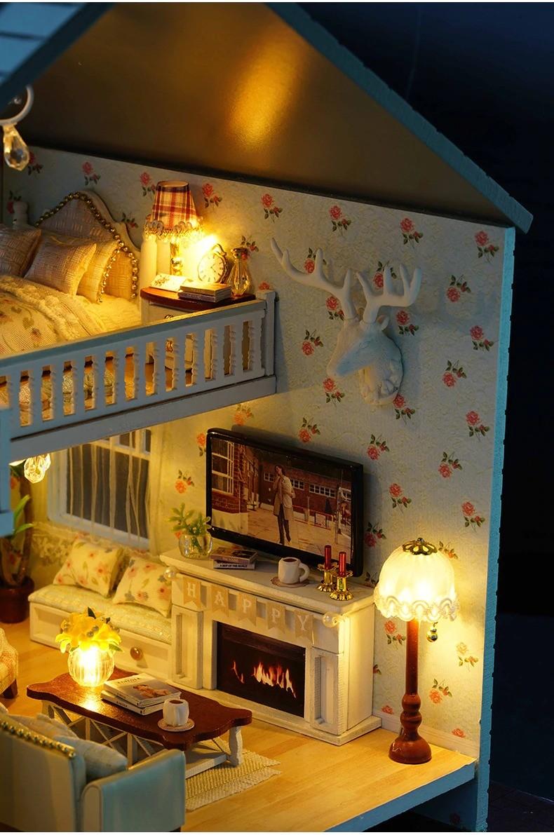 ssemble diy doll house toy wooden minia description 46