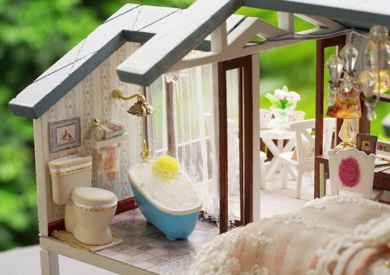 urniture diy doll house wooden miniatur description 20