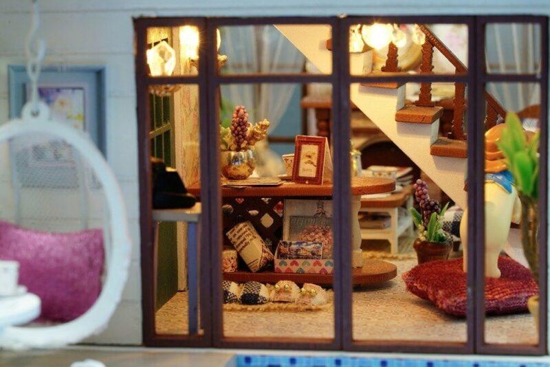 urniture diy doll house wooden miniatur description 24