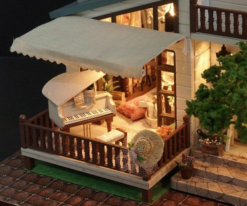 urniture diy doll house wooden miniatur description 26London Holiday DIY Miniature Dollhouse
