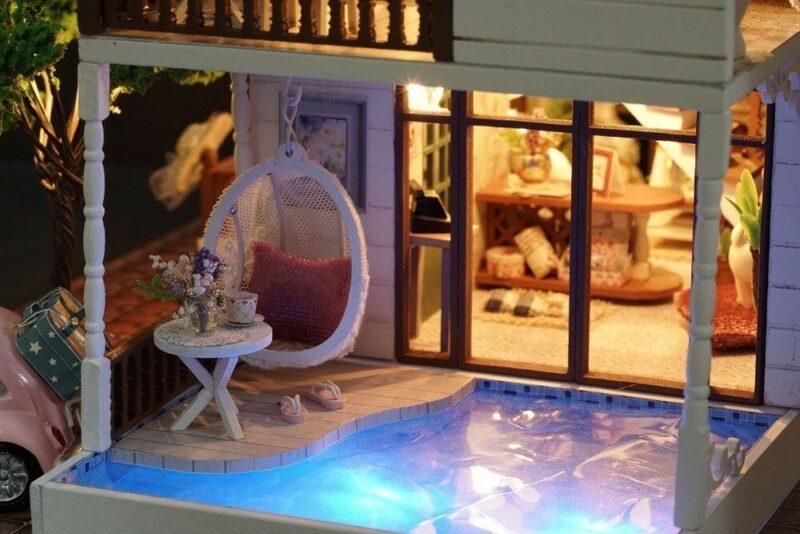 urniture diy doll house wooden miniatur description 27
