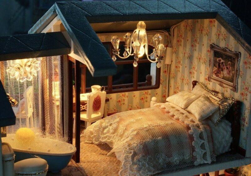 urniture diy doll house wooden miniatur description 29