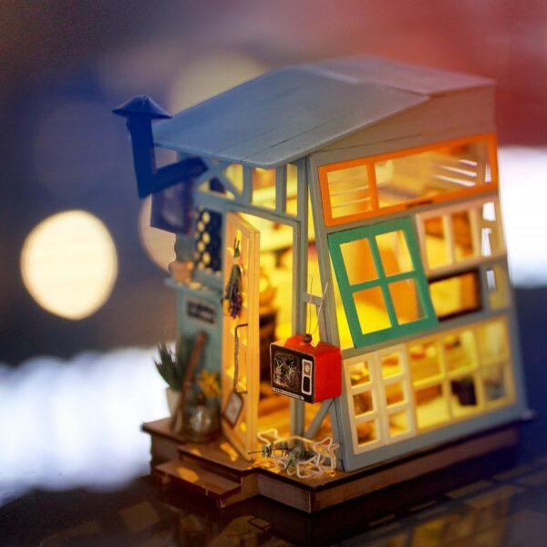 wooden hut robotime diy miniature dollhouse kit 5