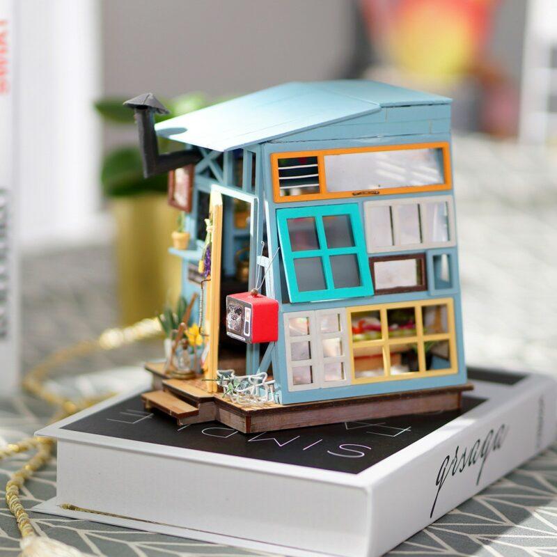 wooden hut robotime diy miniature dollhouse kit 6