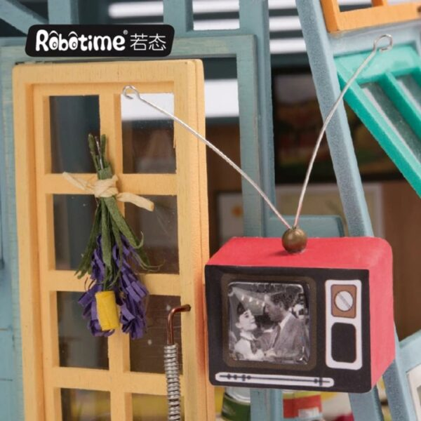wooden hut robotime diy miniature dollhouse kit