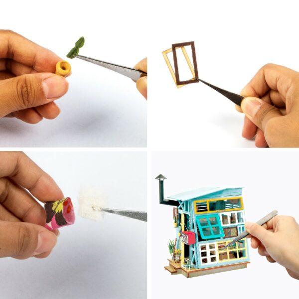 wooden hut robotime diy miniature dollhouse kit 7